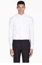 ALEXANDER MCQUEEN White Trompe L'Oeil Shirt for men