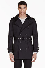 SAINT LAURENT Black Classic Trench Coat for men