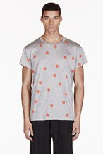 ACNE STUDIOS Heathered Grey Dots T-Shirt for men