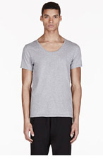 ACNE STUDIOS Heathered Grey Basic T-Shirt for men