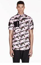 GIVENCHY Pink Velcro Rose Print Shirt for men