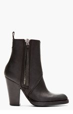 ACNE STUDIOS Black leather Colt High Ankle Boots for women