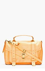 PROENZA SCHOULER Apricot orange PS1 Medium Lux Leather Shoulder Bag for women