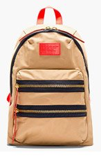 MARC BY MARC JACOBS Khaki & Red Domo Arigato Packrat Backpack for women
