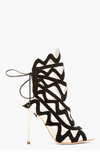 SOPHIA WEBSTER Black suede Mila Cage heels for women