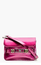 PROENZA SCHOULER Bordeaux PS11 Mini Classic Leather Shoulder Bag for women