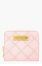 MARC JACOBS Pink quilted leather Anabela wallet for women