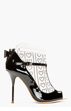 SOPHIA WEBSTER Black ankle sock Sadie heels for women