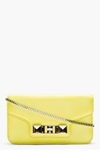 PROENZA SCHOULER Lemon yellow Leather PS11 Chain Clutch for women