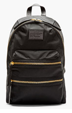 MARC BY MARC JACOBS Black & gold Domo Arigato Packrat Backpack for women