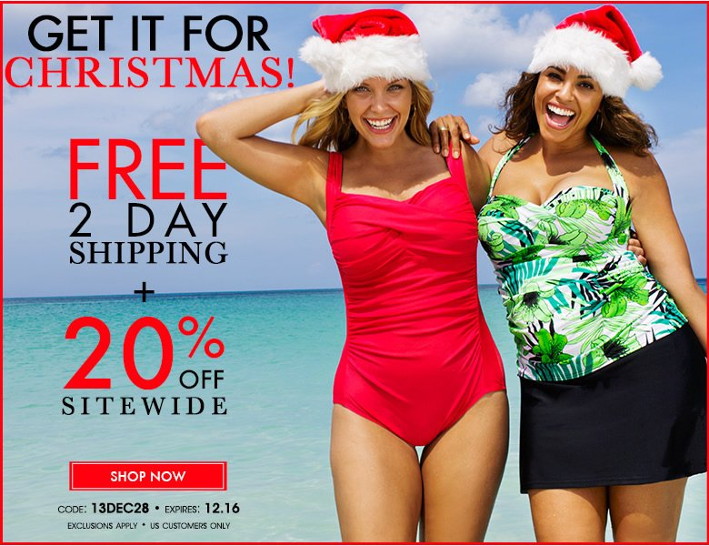 Get it for Christmas: Free 2 Day Shipping + 205 off sitewide - code: 13DCe28 - shop now