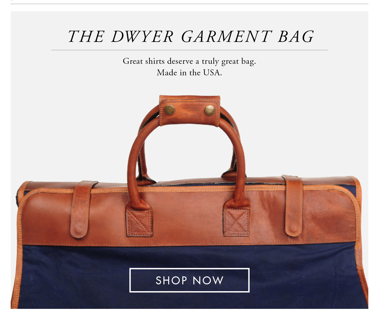 The Dwyer Garment Bag