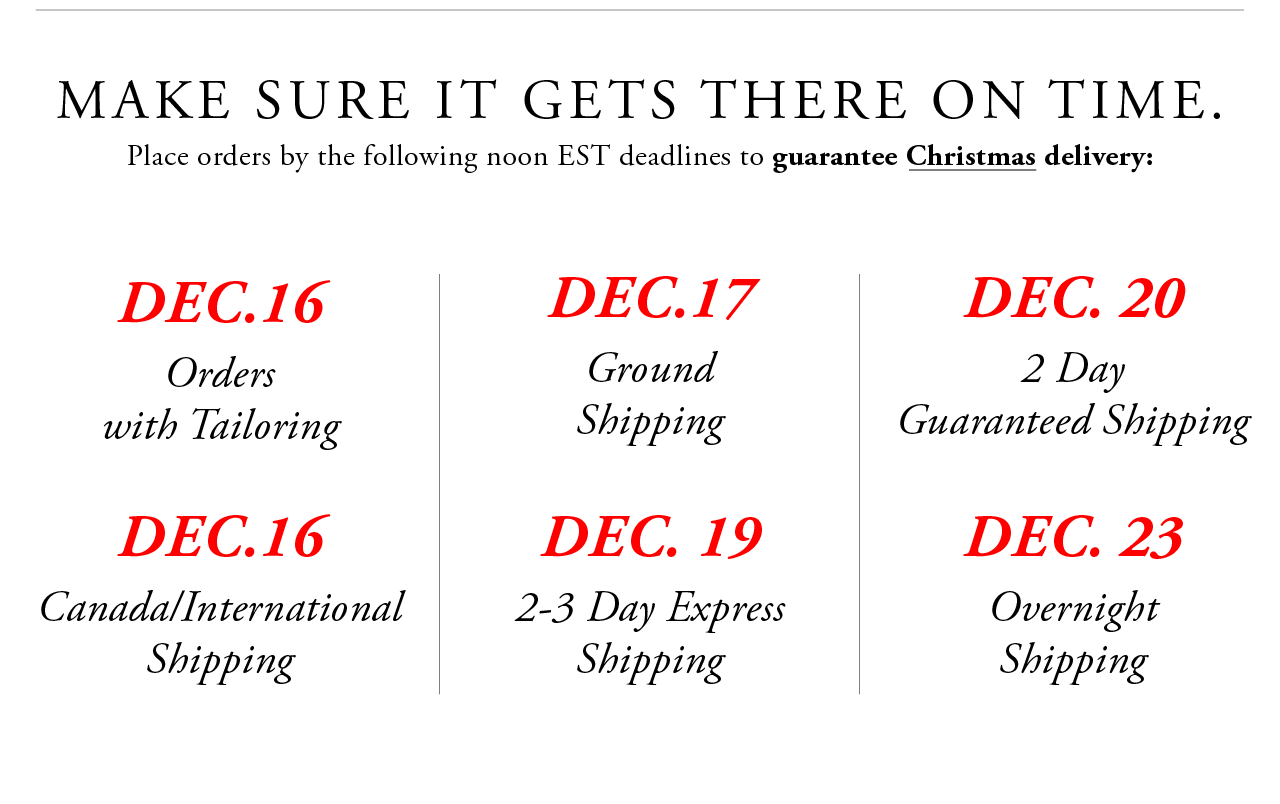 Shipping Dates