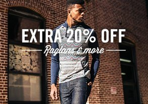 Shop Extra 20% Off: Raglans & More