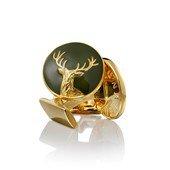 The Hunter Cuff Links Dear Gold, Green