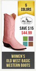 Womens Colored Old West Boot