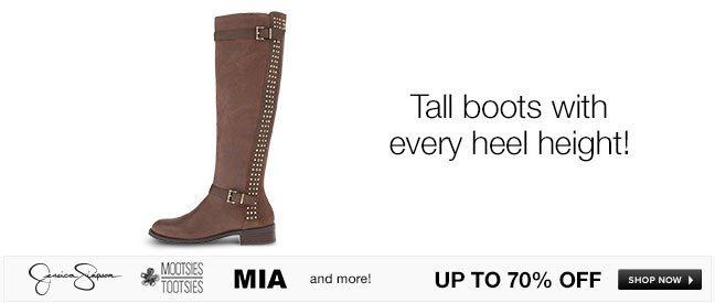 Tall boots with every heel height!