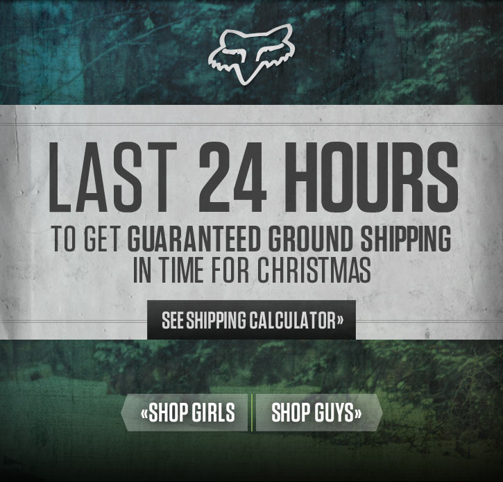 Last 24 Hours For Guaranteed Ground Shipping
