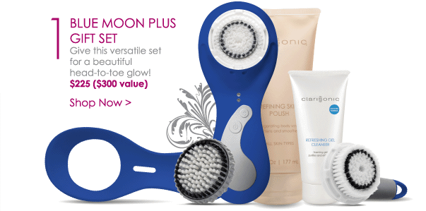 Blue Moon PLUS Gift Set - Give this versatile cleansing set for a beautiful head-to-toe glow! $225 ($300 value) Shop Now