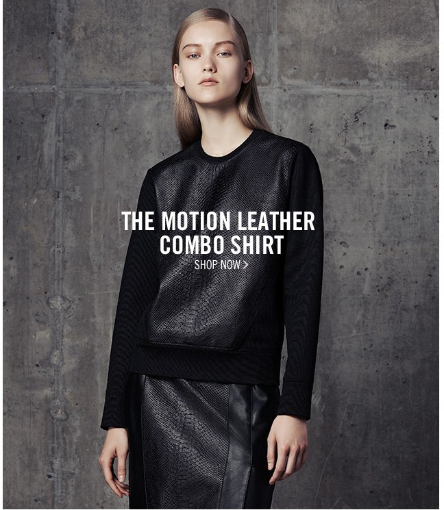 the motion leather COMBO shirt - SHOP now >