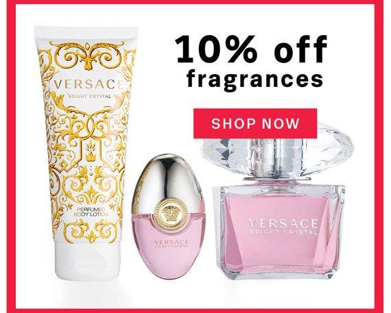 10% off fragrances. Shop Now.
