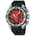 Festina F16600-7 Men's Bike Chronograph Red & Black Dial Rubber Strap Quartz Watch