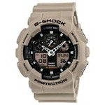 Casio GA100SD-8A Men's G-Shock Military Sand Analog-Digital Beige Resin Strap Dive Watch