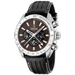Festina F16489-A Men's Chrono Brown Dial Black Leather Strap Quartz Watch