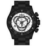 Invicta 80628 Men's Excursion Chronograph White Dial Black Ion Plated Steel Dive Watch