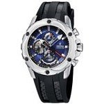 Festina F16526-4 Men's Chrono Bike Blue Dial Black Rubber Strap Quartz Watch