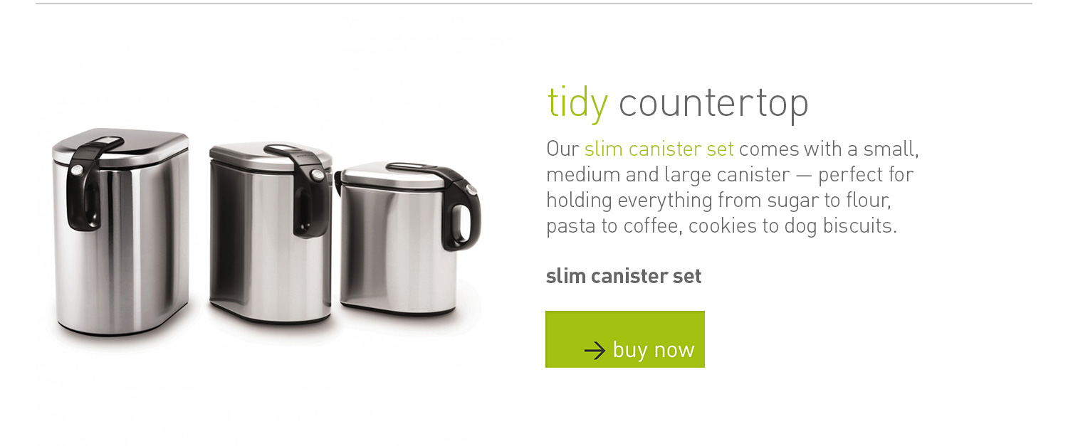 slim canister set: tidy countertop