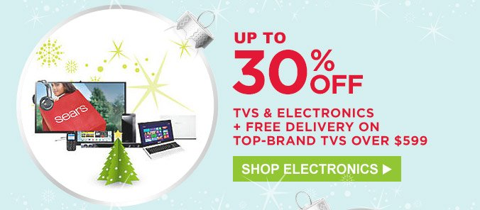 Up to 30% off TVs & electronics + free delivery on top-brand TVs over $599 | Shop Electronics