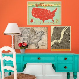 World Traveler: Maps & Décor