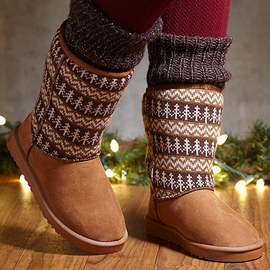 Beat the Chill: Shearling-Style Boots