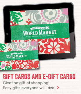 Gift the gift of Shopping with Gifts Cards & E–Gift Cards