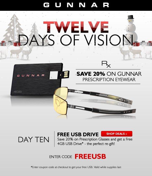 Day 10 | 20% off Prescription Glasses and a Free 4GB USB Drive