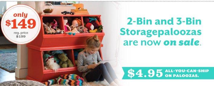 Storagepaloozas on sale.