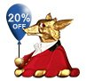 The Cheeky Fox got 20% off his Christmas gifts