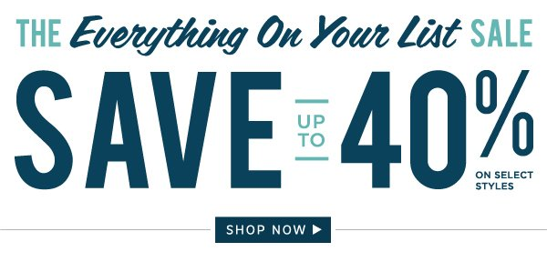 The Everything on Your List Sale: Shop Now