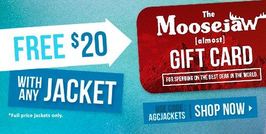 Free $20 with any jacket code: AGCJACKETS