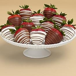 Full Dozen Gourmet Swizzled Strawberries