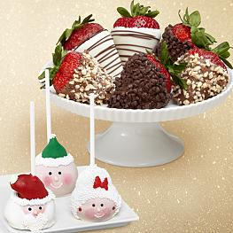 3 Christmas Cake Pops & Half Dozen Fancy Strawberries