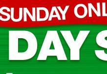 One Day Sale - Sunday 20% Cash Back