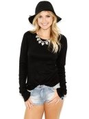 Olivaceous Crew Neck Sweater In Black