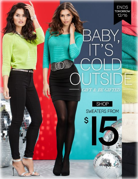 Gift and Be Gifted - Shop Sweaters from $15!
