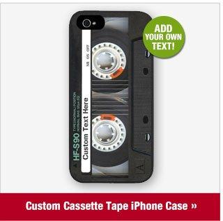Custom Cassette Tape iPhone Case