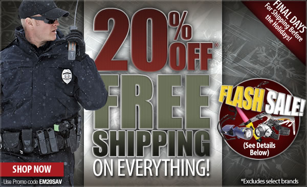 20 percent Off Sitewide + Free Shipping!