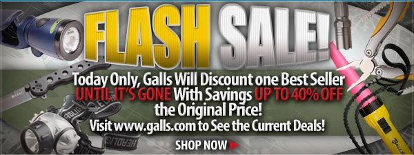 FLASH SALE - Up to 40 percent off Great Gear