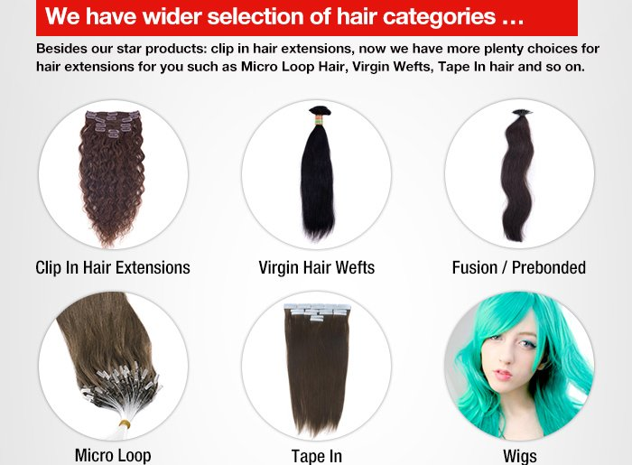 We have wider selection of hair categories …