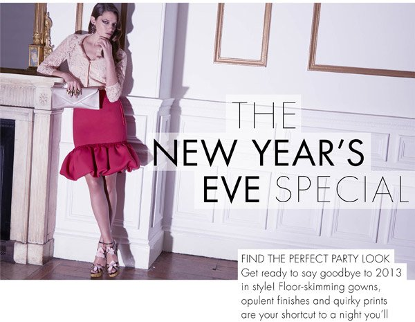 THE NEW YEAR'S EVE SPECIAL - FIND THE PERFECT PARTY LOOK